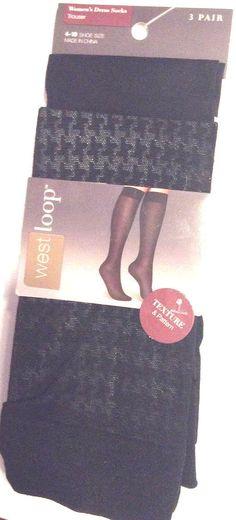 f16ec7adaa524 Womens Opaque Dress Trouser Socks Black Size 4-10 Nylon Spandex Texture  Pattern #fashion #clothing #shoes #accessories #womensclothing #hosierysocks  (ebay ...