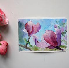 Original watercolor postcard