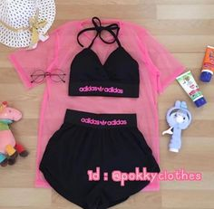 Cosas que quiero Cute Nike Outfits, Neon Outfits, Cute Lazy Outfits, Crop Top Outfits, Sporty Outfits, Mode Outfits, Trendy Outfits, Girls Fashion Clothes, Teen Fashion Outfits