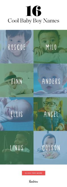 16 Cool Baby Boy Names You Haven't Thought Of via @PureWow