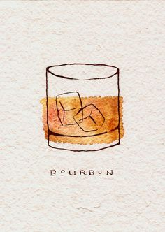 Bourbon Art Print: Need a birthday present for a whiskey lover? Bourbon Art Print: Besoin d'un cadeau d'anniversaire pour un amateur de whisky? … Bourbon Art Print: Need a birthday present for a whiskey lover? Nothing will be done … Painting Inspiration, Art Inspo, Tatoo Brothers, Arte Sketchbook, Painting & Drawing, Painting Tips, Watercolor Paintings, Watercolour, Watercolor Canvas