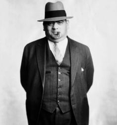 Gangster Sam Chowderhead Cohen turns his thug-like stare toward the camera in 1931.