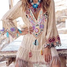 Amazing ╰☆╮Boho chic bohemian boho style hippy hippie chic bohème vibe gypsy fashion indie folk the 70s . ╰☆╮