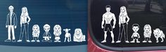 Twlight family member car stickers