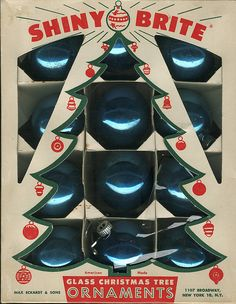 Vintage Christmas ornament packaging