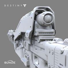 Destiny: Exotic Sniper Rifle Ice Breaker FP, David Stammel on ArtStation at http://www.artstation.com/artwork/destiny-exotic-sniper-rifle-ice-breaker-fp