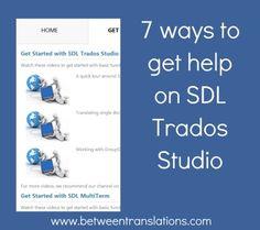 7 ways to get help on SDL Trados Studio