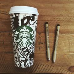 """""""I never realized how perfect these cups were for a canvas."""" Design by Instagram user iamsloth. #WhiteCupContest"""
