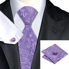 Подарочный галстук фиолетовый с узором - купить в Киеве и Украине по недорогой цене, интернет-магазин