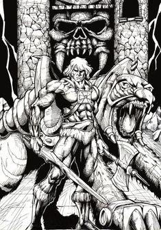 cartoons deviantart cartoons tattoos He-man! by popmhan on DeviantArt Comic Books Art, Comic Art, Book Art, Drawing Cartoon Characters, Character Drawing, He Man Tattoo, He Man Desenho, He Man Thundercats, Superhero Coloring