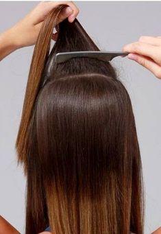 Peinados fáciles para ir al trabajo ~ Manoslindas.com Long Hair Styles, Beauty, Projects, Ideas, Templates, Teased Hairstyles, Two Braids, How To Cut Bangs, Teased Hair