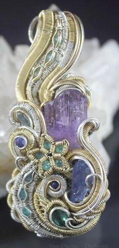 ©Joel Hocker #wirewrap #jewelry #wirewrapjewelry #oneofakindjewelry