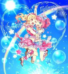Laura x Yume Me Me Me Anime, Anime Love, Best Friends Forever, Anime Chibi, Anime Art Girl, Subaru, Idol, Wings, Fan Art