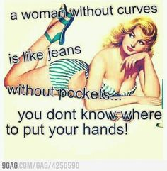 A woman with curves