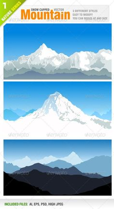 Snowy Mountains #GraphicRiver Vector