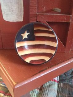 Primitive Miniature Americana Flag Hand Painted Bowl on Etsy, $9.00