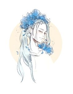 """today's YOI gave us young Viktor with flowers and i am so thankful for that #YuriOnIce"""