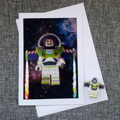 Lego Disney Buzz Lightyear Plain Photo Card from Magical Minifigures on Etsy. Perfect for any Disnerd or Lego fan/AFOL! Great for birthdays, thank you's, get well soon's, good news or just to say hi... Prices from £3.30 - £3.60 Inside personalisation available to send a special message to that special person. Worldwide shipping available and FREE 2nd class delivery in the UK. Etsy shop – http://www.magicalminifigures.etsy.com #Lego #Disney #ToyStory #Handmade #GiftIdeas #Photography