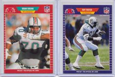 Miami Dolphins 1989 Pro Set 2 Card Lot Brian Sochia and Roy Foster  #MiamiDolphins