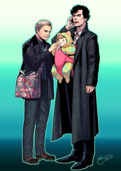 SHERLOCK : Parenting Detective and his Husband™