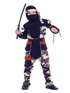 Ninja Kostüm für Kinder, Camouflage Mortal Combat GI Joe Fancy Dress