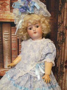 "Gorgeous Little girl by Kestner 19"" Antique German Doll"
