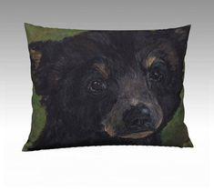 Items similar to Standard Size Bear Cub Pillow Case 26 x 20 Decorative Pillow Nursery Pillow Velveteen or Canvas on Etsy Lumbar Pillow, Pillow Cases, Throw Pillows, Bear Cubs, Decorative Pillows, Arts And Crafts, Nursery, Canvas, Cute