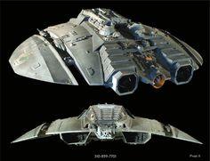 Original 1970s Battlestar Galactica filming model - Cylon raider