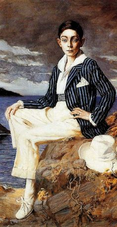 flashbackdandies: Lucien Hector Jonas - A Young Dandy On The Beach 1921