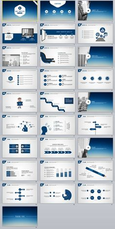 28+ slide Blue Best Creative PowerPoint Template Office Powerpoint Templates, Professional Powerpoint Templates, Microsoft Powerpoint, Sales Deck, Business Design, Business Company, Creative Business, Template Web, Infographic Templates