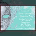 Beautiful pink, lavender and teal blue snowflake winter wonderland party invitations. This elegant teal blue winter wonder land party invitation works well for a winter wonderland sweet sixteen birthday party invitation, winter wonderland Quinceanera invitation, winter masquerade party, and any other winter theme party or event. This elegant winter wonderland invitation features pastel pink, lavender and blue snowflake background and elegant pale blue Venetian mask and is easily customized…