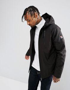Fila Vintage Lightweight Jacket With Sleeve Logo - Black