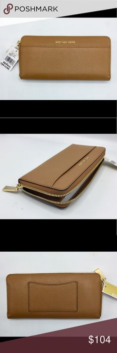 bb0bc46063fb Michael Kors Mercer zip around continental wallet New with tags Michael Kors  Mercer Pebble Leather Pocket