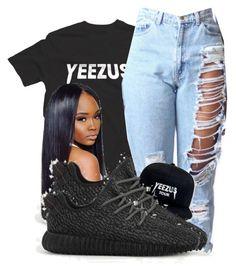 """""""Famous://Kanye West"""" by shamyadanyel ❤ liked on Polyvore featuring adidas"""