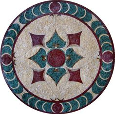 MD106 Marble Mosaic Medallion Tile