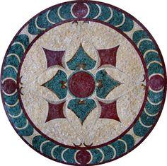 MD106 Marble Mosaic Medallion Tile