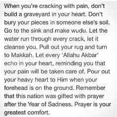 The most comforting..When the world hates you and you try but fail to please people so you go back tp your Creator and the One Who actually Loves you,Who will hear every painful beat of your poor heart and then comfort it and bless it with joy unlike any  back pain quotes
