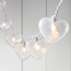 Emily & Meritt Heart Shaped String Lights #pbteen $39