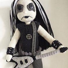 Custom Order ☠️. #kindabamcrochet #blackmetal #blackmetaldoll #crochet#doll#crochetdoll #amigurumi#amigurumidoll #handmade#handmadedoll#customdoll #crochetersofinstagram #crocheting#blackmetalband Crochet Music, Free Crochet, Photo Tutorial, Crochet Dolls, Black Metal, Etsy Store, Photo And Video, Pattern, Anime