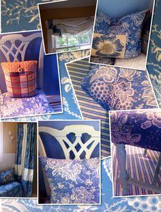 Tamara Stephenson design blue toile bedroom from Brunchswig & Fils