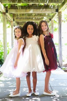 Style 298 Kid's Dream: Girls' Special Occasion Dress Line. Double Layered Mesh Dress Colors:  Ivory, Champagne, Pink, Black, Dusty Rose/Ivory, White, Red/Black, Champagne/Black Sizes: kids 2-14 #flowersgirls #weddingdress #weddingmagic #flower