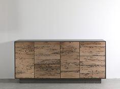 Briccola wood sideboard with drawers RIALTO MODULO 4 Briccole Collection by Riva 1920 | design Giuliano Cappelletti