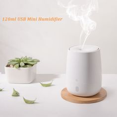 USB Mini Air Humidifier Ultrasonic Essential Oil Aroma Diffuser for Xiaomi Youpin Mute LED Light Mist Maker for Home Usb, Aroma Diffuser, Aromatherapy Diffuser, Oil Diffuser, Mini, Tech Gadgets, Simple Designs, Essential Oils, Aromatherapy