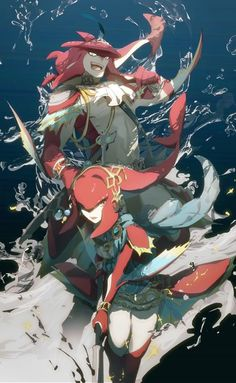 Breath of the wild the zora prince and princess I can't remember their names.>>>>It's princess Mipha and prince Sidon