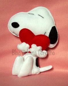 Blog Juliana Gordilho: Snoopy em feltro