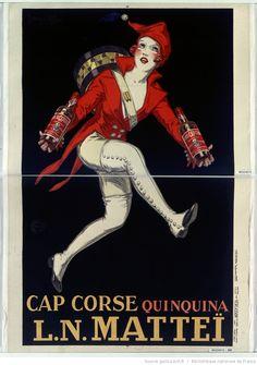 Cap Corse Quinquina L. N. Matteï : [affiche] / [Jean de Ylen] 1927