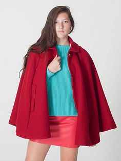 A charming and whimsical red cape, for chilly days. I would have made a poor governess, I'm much too flamboyant.