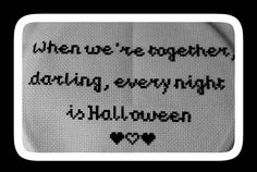 My first cross stitch :) I love the Addams family