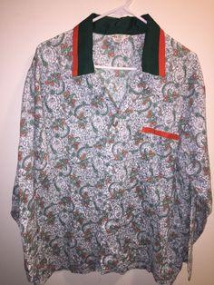 d8f4d421601 Vintage Kmart Bold Print paisley Pajamas Size Large men s