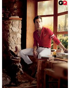 It's not whether you win or lose...its how you look when you are playin the game that counts.   Amen! It's Matt Bomer